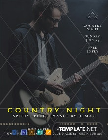 Free Country Night Flyer Template