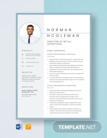 Director of Retail Operations Resume Template