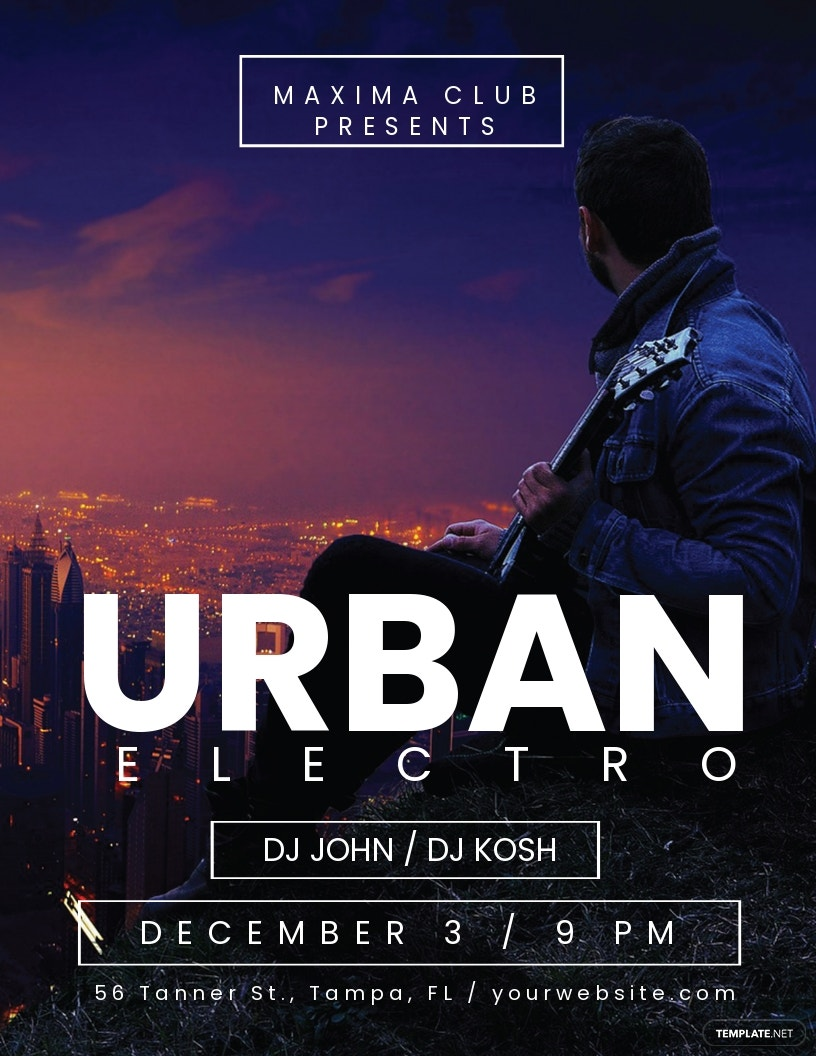 Urban Electro DJ Flyer Template