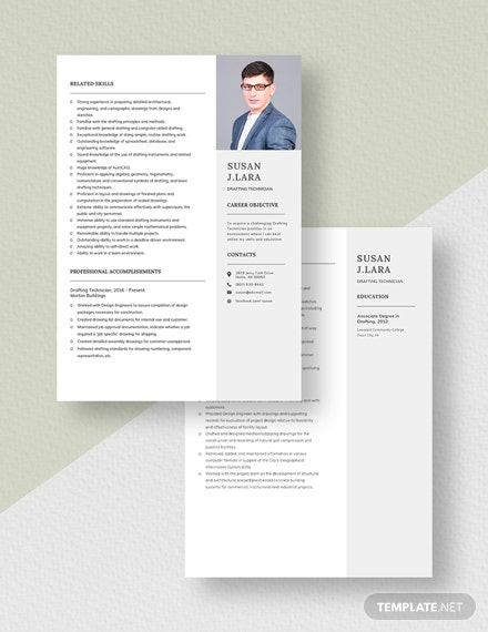 Drafting Technician Resume Download