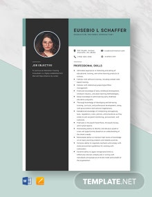Education Training Consultant Resume Template