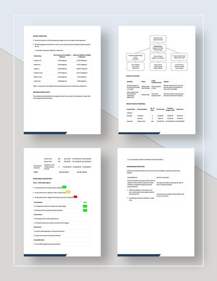 Automotive Operational Plan Download