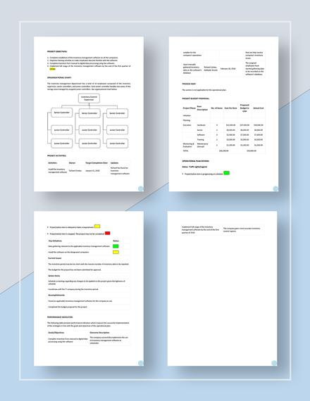 Basic Operational Plan Download