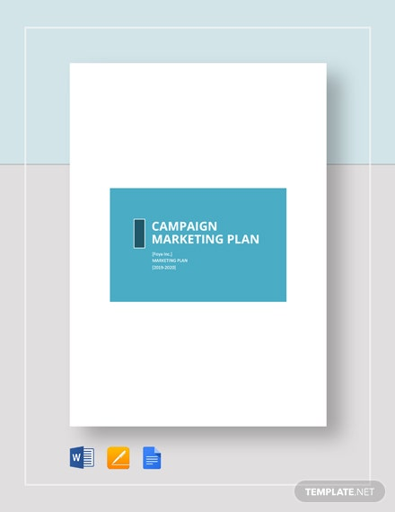 campaign marketing plan
