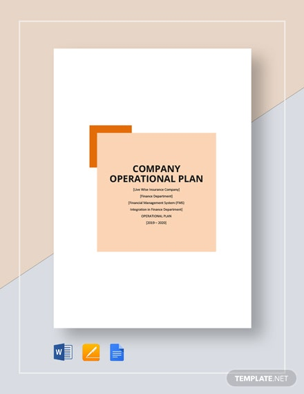 company operational plan