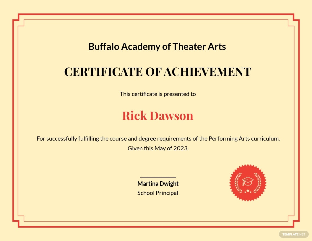 Free Academic Diploma Certificate Template