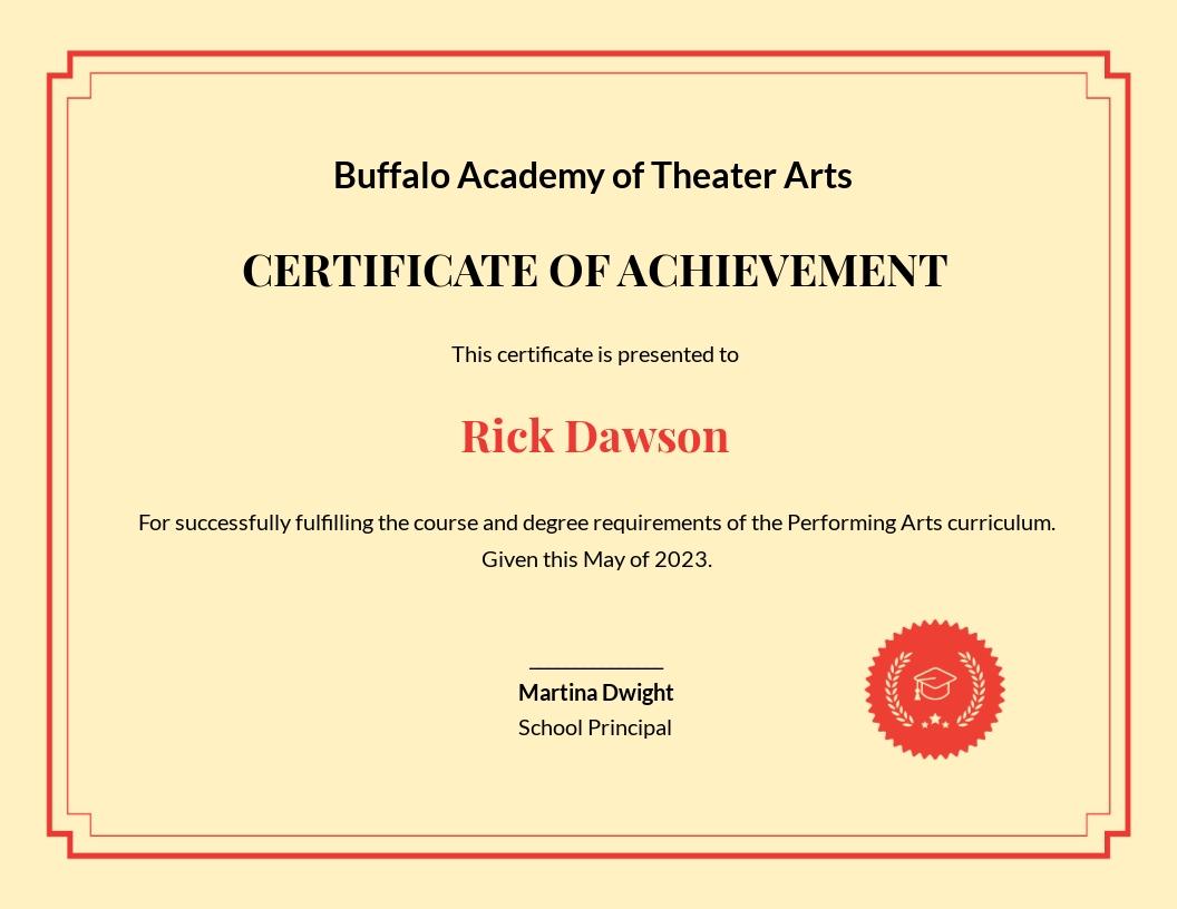 Academic Diploma Certificate Template