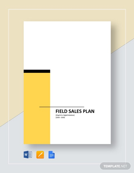 Field Sales Plan Template