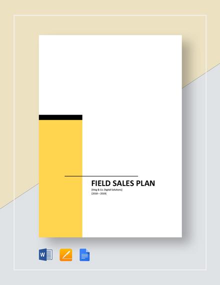 Field Sales Plan Template