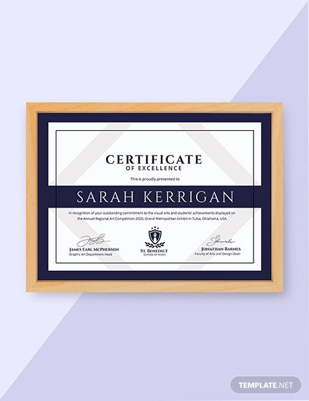 Free Art Achievement Certificate Template Download 380