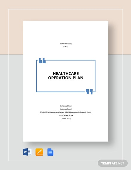 healthcare operational plan
