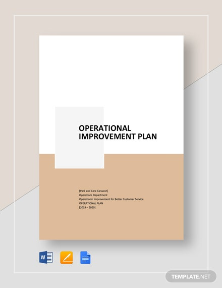 operational improvement plan