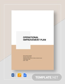 Operational Improvement Plan Template