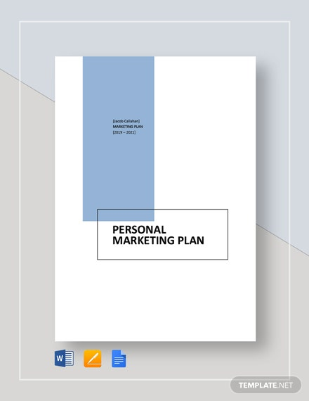 Personal Marketing Plan Template