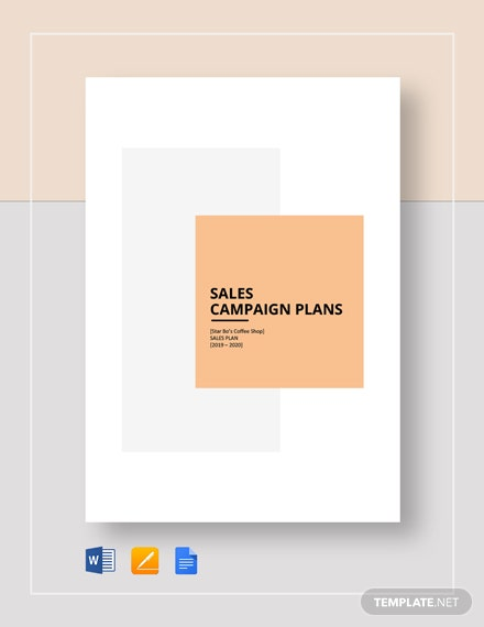 Sales Campaign Plan Template