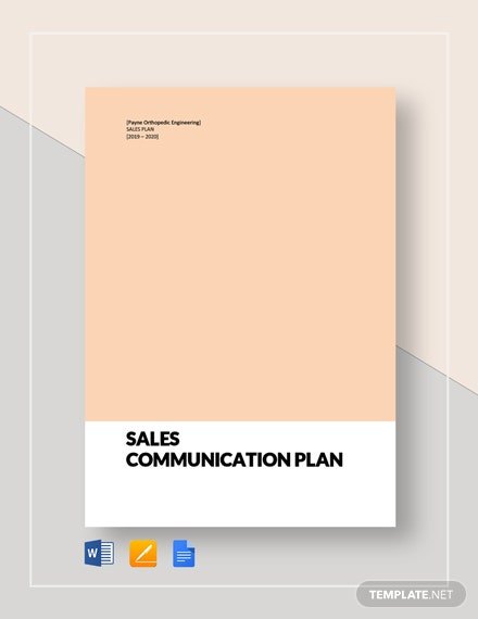 Sales Communication Plan Template