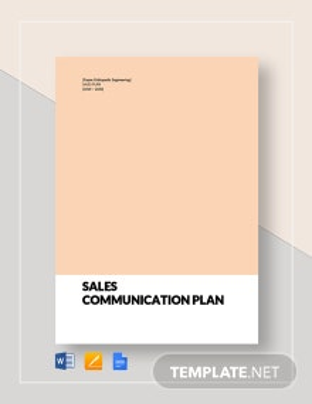 Sales Communication Plan Template