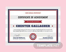 Free softball certificate template in adobe photoshop illustrator free baseball certificate template yadclub Gallery
