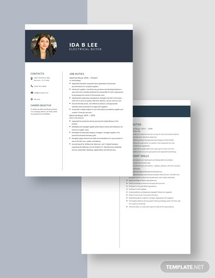 Electrical Buyer Resume  Download