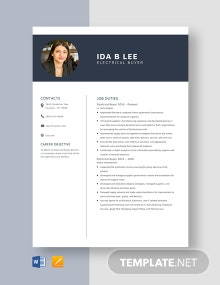 Electrical Buyer Resume Template