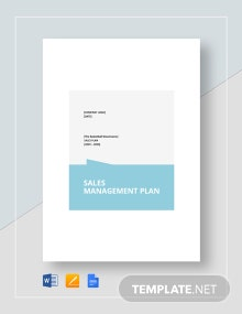 Sales Management Plan Template
