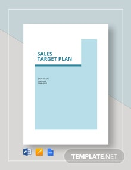 Sales Target Plan Template