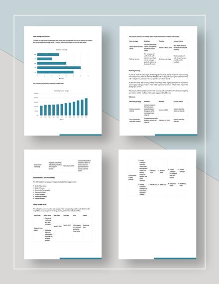 Sample Sales Target Plan