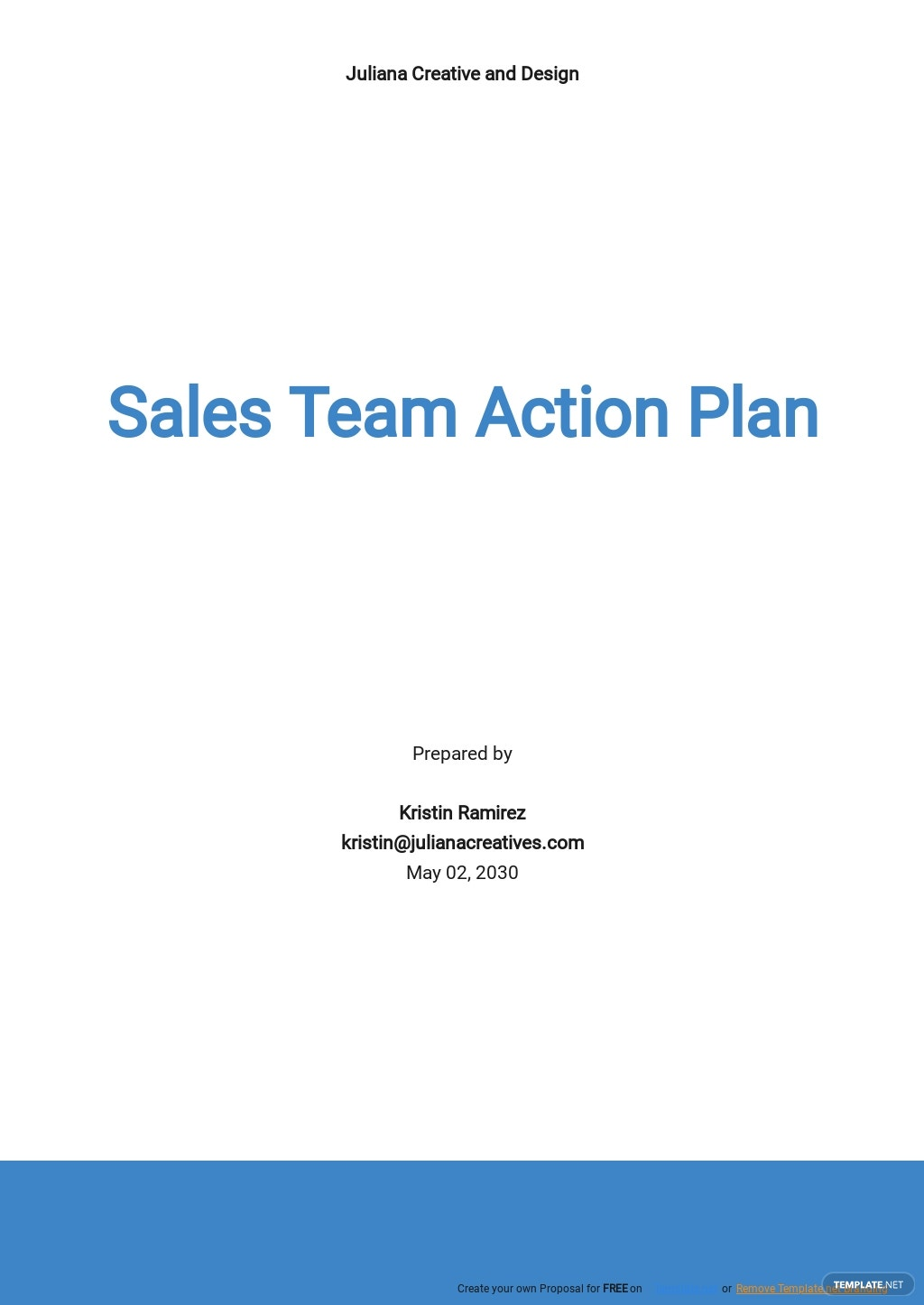 Sales Team Action Plan Template