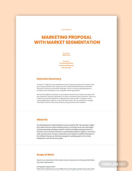 Segmentation Marketing Plan