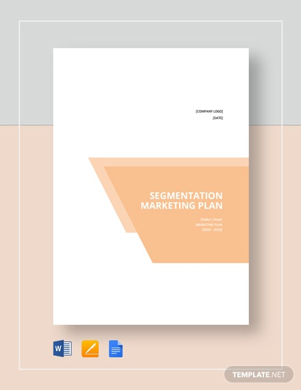 Segmentation Marketing Plan Template