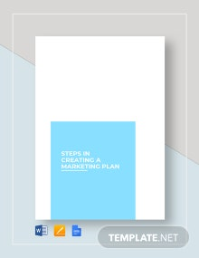 Step Marketing Plan Template