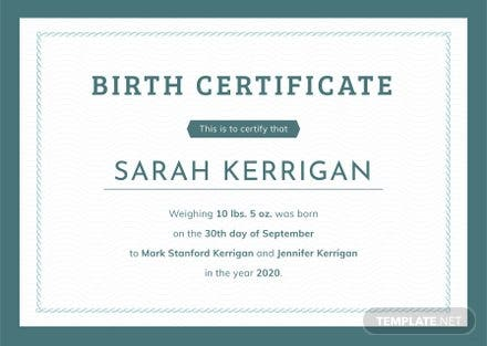 Free animal birth certificate template in psd ms word for Basic certificate template