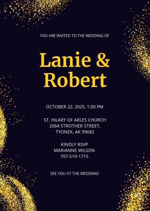 Lux Fall Wedding Invitation Template