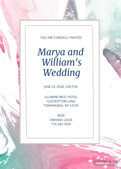 Marya Fall Wedding Invitation Template