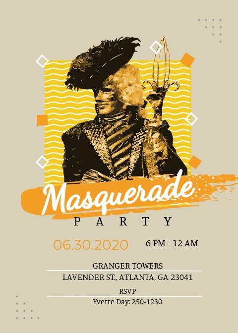 Masquerade Mask Invitation Template.jpe