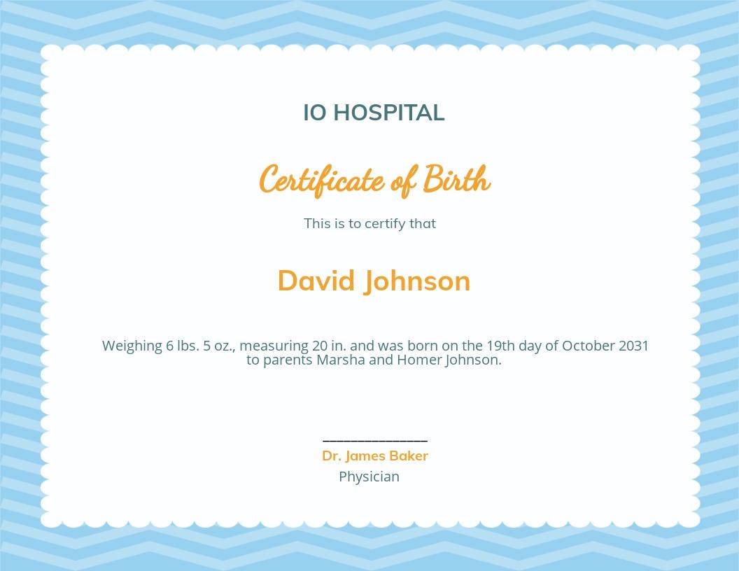 Free Boy Birth Certificate Template.jpe