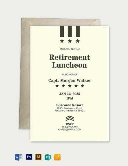 Military Retirement Invitation Template