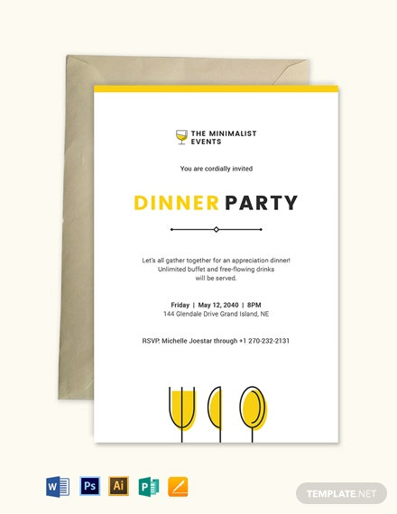 Minimal Appreciation Dinner Invitation Template