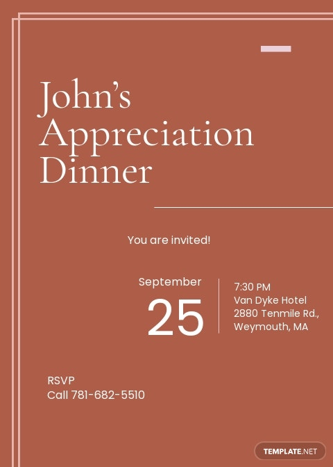 Modern Appreciation Dinner Invitation Template