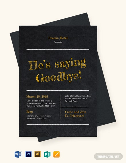 Modern Chalkboard Invitation Template