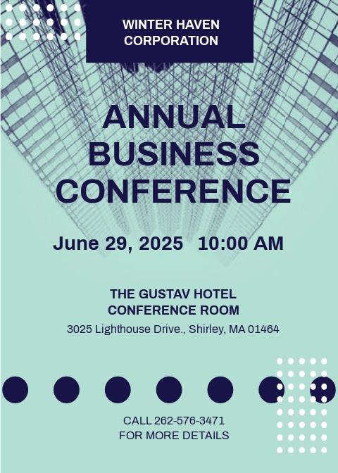 Modern Conference Invitation Template