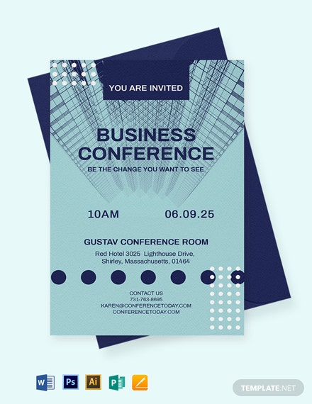 Modern Conference Invitation Template