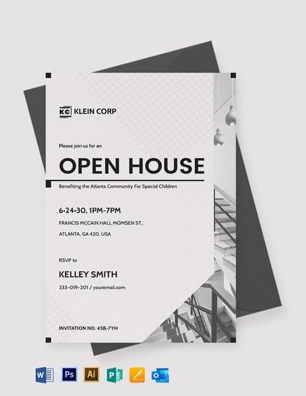 Modern Corporate Invitation Template