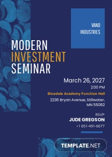 Modern investment Seminar invitation Template