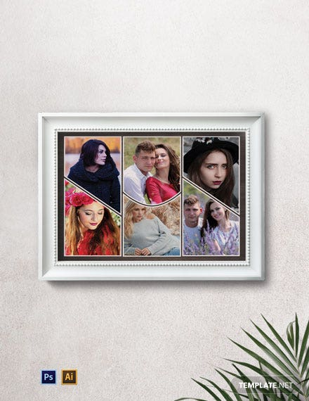 Collage Photo Frame Template