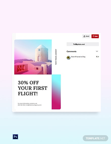 Free Elegant Travel Pinterest Pin Template