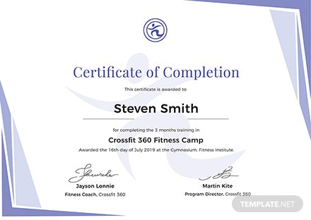 Free Completion Of Training Certificate Template Download 200