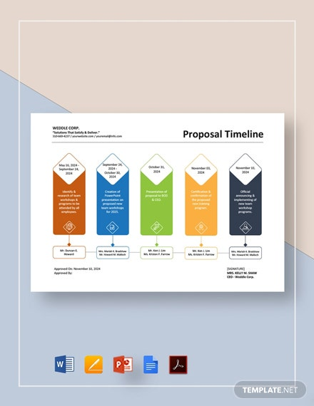 Proposal Timeline Template