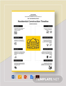 Residential Construction Timeline Template