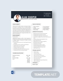 Free Administrative Assistant Resume Template